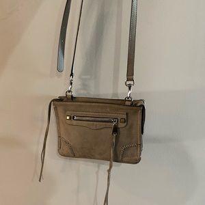 Rebecca Minkoff Grey Suede Crossbody Bag